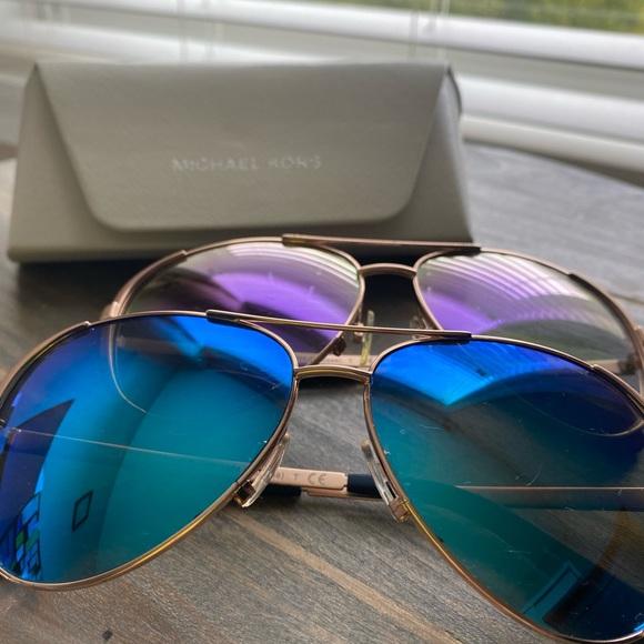 2 Pairs Michael Kors Aviator women's sunglasses